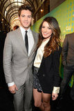 Steven R. McQueen and Shenae Grimes met up at the presentation.