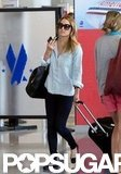 Lauren Conrad walked through LAX.