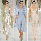 Ralph Lauren's refined feathered gowns and trims for Spring 2012.