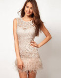 Shake up a classic cocktail party with this feathered frock.  Lipsy VIP Feather Trim Dress ($191)