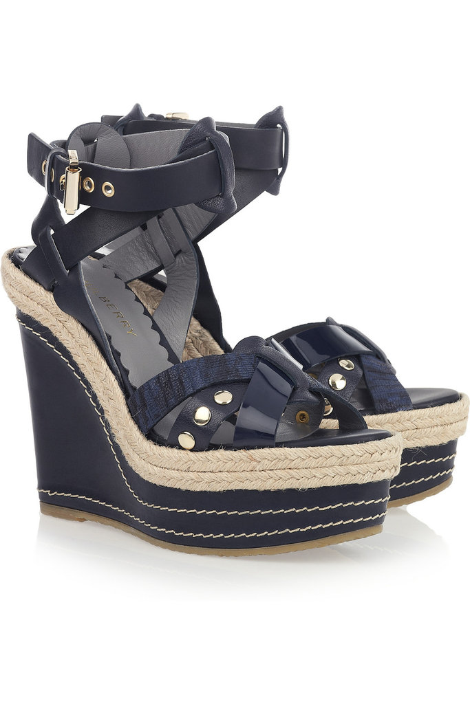 Espadrilles with studded embellishments have that cool-girl edge that'll wear as well with your sweet sundresses as they will with trousers and denim.  Mulberry Leather Wedge Sandal ($865)