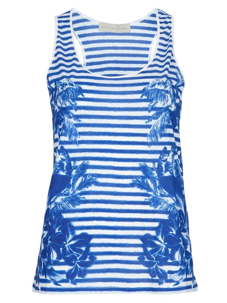 Stella McCartney certainly traveled to the tropics for her Spring '12 collection, and we're loving this chic striped-cum-floral top that totally represents her warm weather inspiration. Stella McCartney Printed Vest Top ($175)