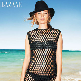 Kate Moss Flaunts her Sexy Swimwear Body in Bikinis for Terry Richardson in US Harper's Bazaar June/July 2012 Issue