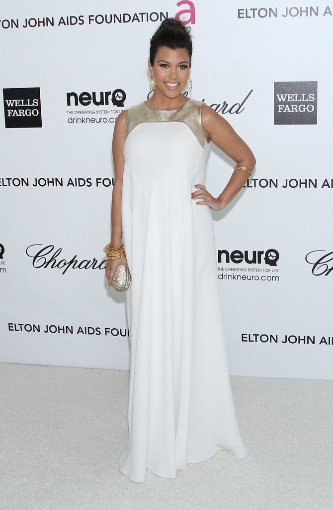 Kourtney Kardashian's Oscar-Ready White Night