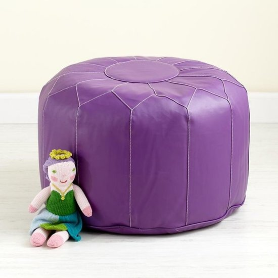 The Land of Nod Purple Pouf