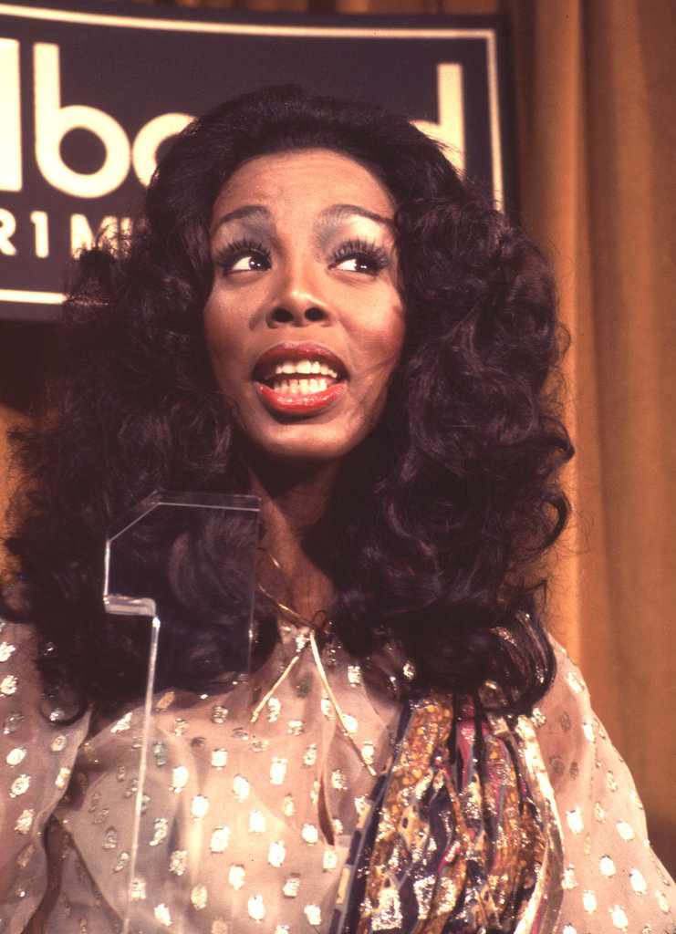 Donna Summer takes in the 1977 Bilboard Music Awards.