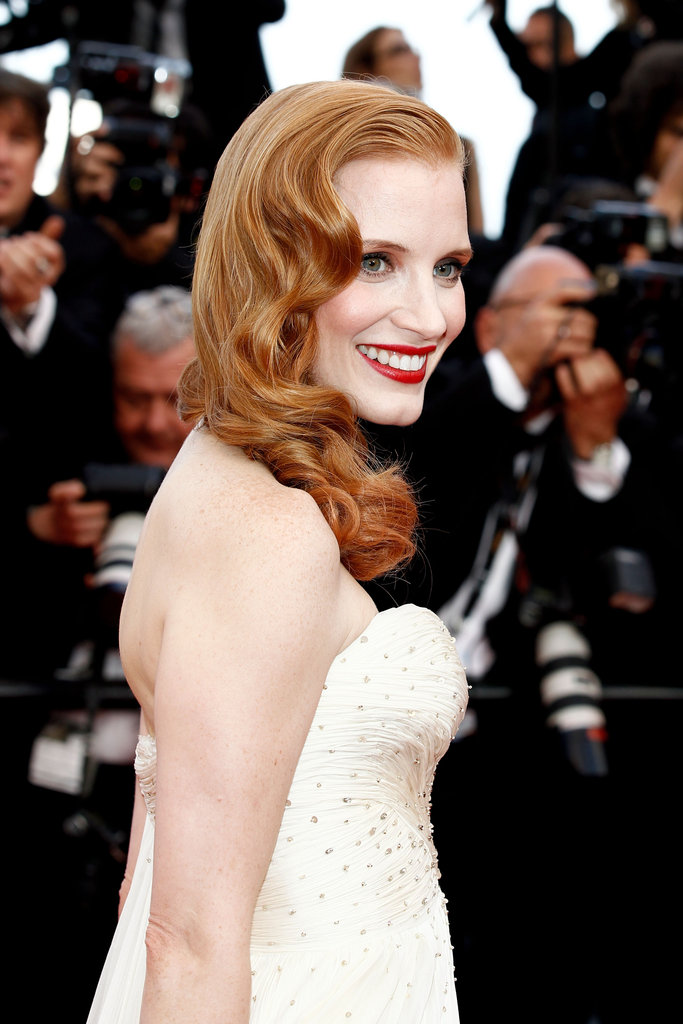 Jessica Chastain lit up the carpet in Cannes.