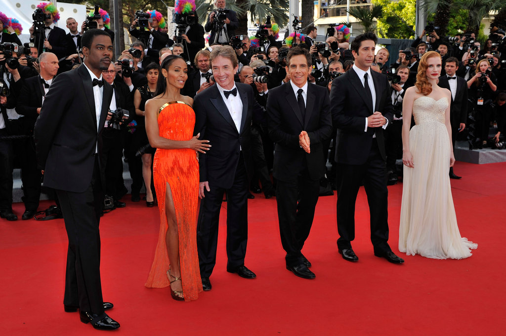 The Madagascar 3: Europe's Most Wanted cast got together for a photo on the red carpet.