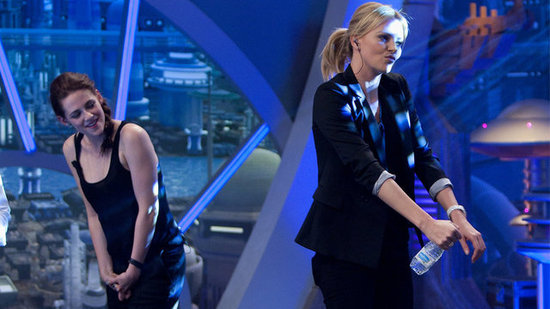 Video: Watch Kristen Stewart Get Shy Over Charlize Theron's Silly Dance Moves