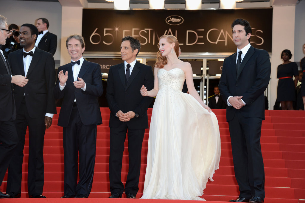 Martin Short, Ben Stiller, Jessica Chastain, and David Schwimmer arrived in Cannes for the Madagascar 3: Europe's Most Wanted premiere.