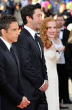 Ben Stiller, Jessica Chastain, and David Schwimmer posed at the premiere of Madagascar 3: Europe's Most Wanted in Cannes.