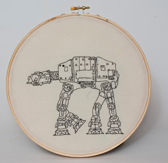 AT-AT hand embroidery ($50)