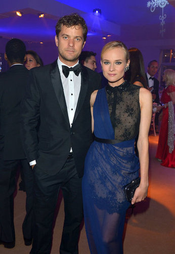 A glimpse of Diane's dapper date (boyfriend Joshua Jackson) and a closer look at her lace Jason Wu gown.