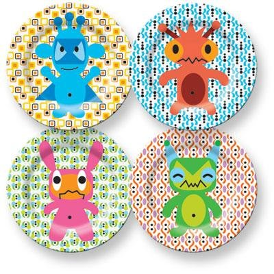 French Bull Monster Kids Plate Set (4/$32)