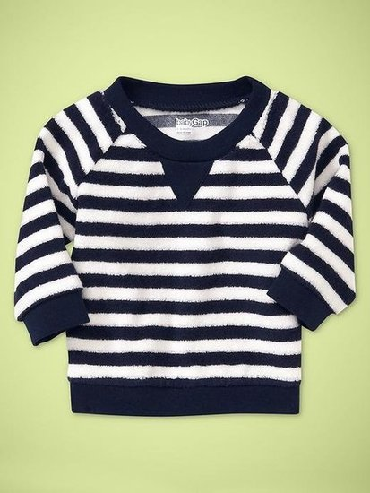 Baby Gap Striped Terry Sweater ($25)