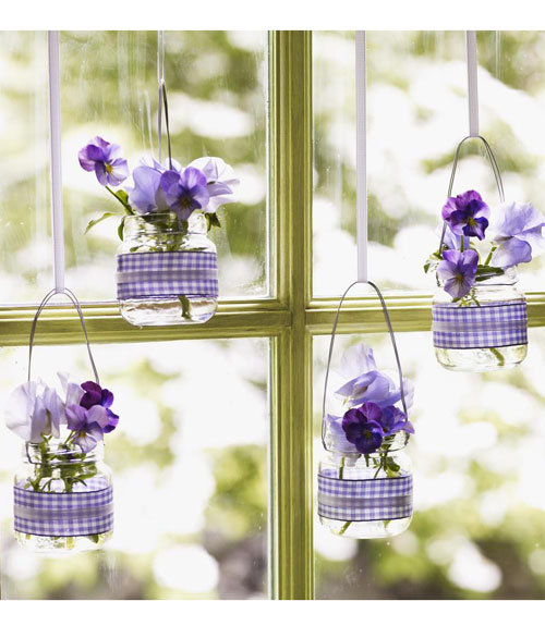 For Any Day Upcycling: Hanging Baby-Food Jar Vases