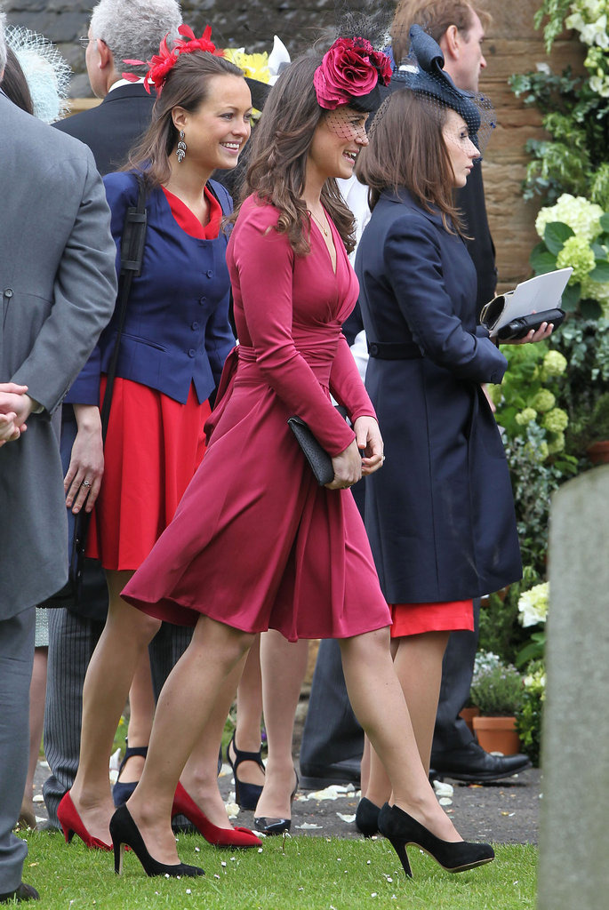 Pippa Middleton Attends a Pal's Wedding in Red