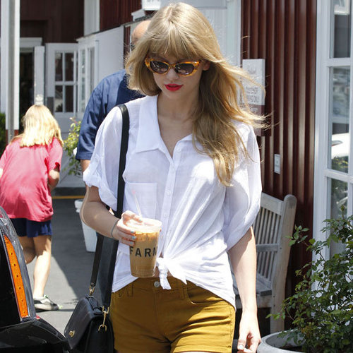 Taylor Swift Brown Denim Shorts