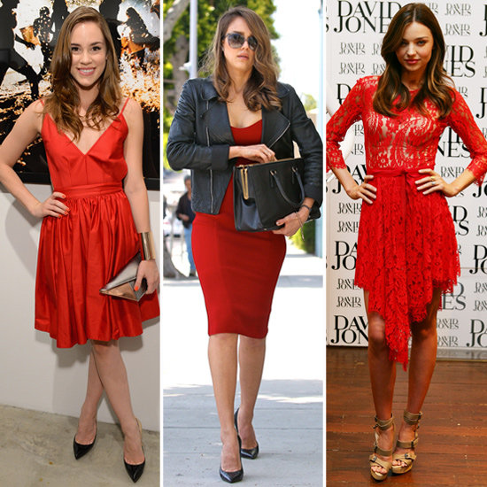 7 Celebs Inspire a Search For the Perfect Little Red Dress