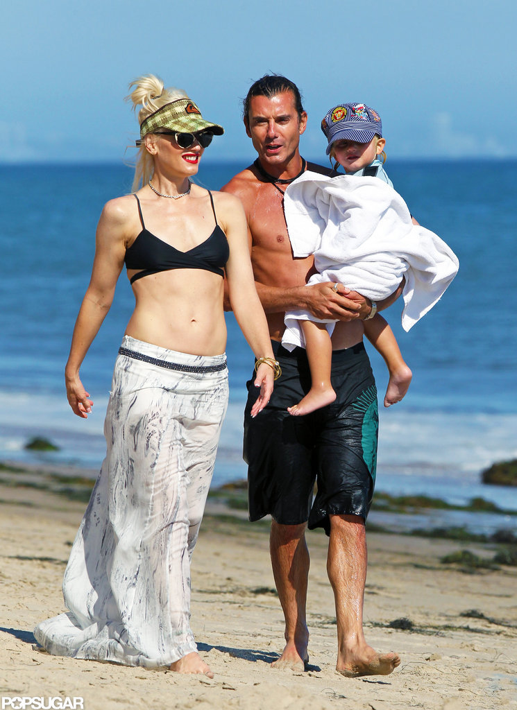 Gavin Rossdale and Gwen Stefani got away with their sons to Malibu, in August 2011.