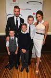 Victoria Beckham and the Boys Go Along For David's Big Night