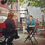 Christian Siriano held an interview outdoors.  Source: Instagram user csiriano