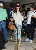 Jenna Dewan wore printed pants.