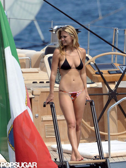 Bar Refaeli traded in stylish gowns for a sexy bikini while in Cannes in May 2011.