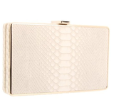 This supersophisticated Summer clutch has exotic texture but a totally seasonal palette.  BCBG Thea Clutch ($148)