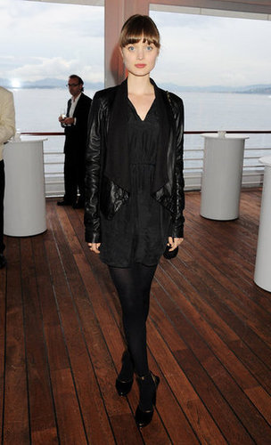 Bella Heathcote donned a darker downtown-cool look at the IWC Filmmakers dinner.