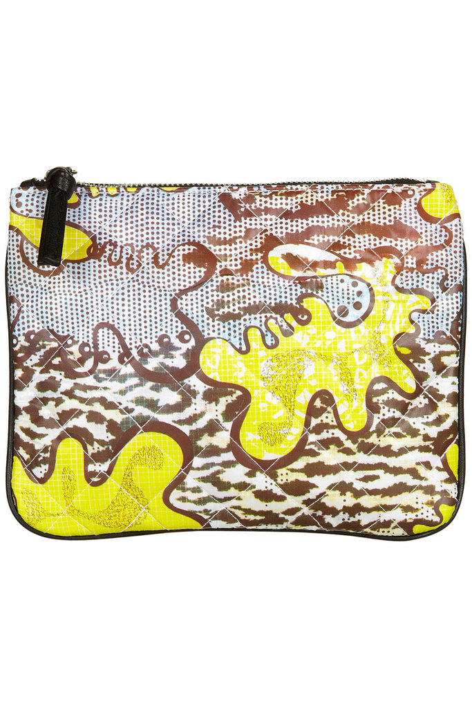 This playful print would liven up everything from your work ensembles to your basic denim.  Topshop Animal Africa Pouch ($24)