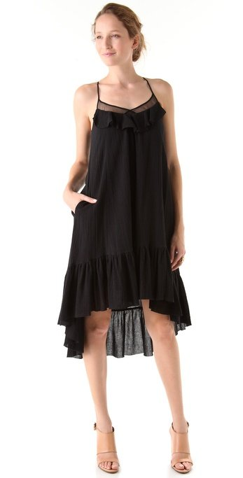 This dress has a pretty, ruffled neckline and a gauzy, beachy-chic feel.  Rebecca Minkoff Long Alissa Dress ($328)