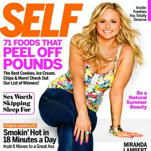 Miranda Lambert on Self Magazine Cover June 2012