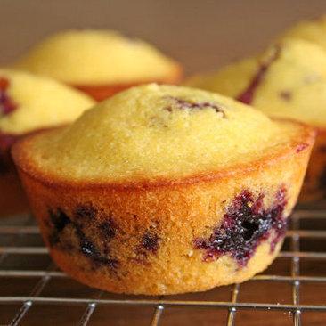 Blueberry Cornbread Muffins