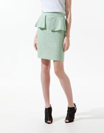 Zara Pencil Skirt With Frill ($80)