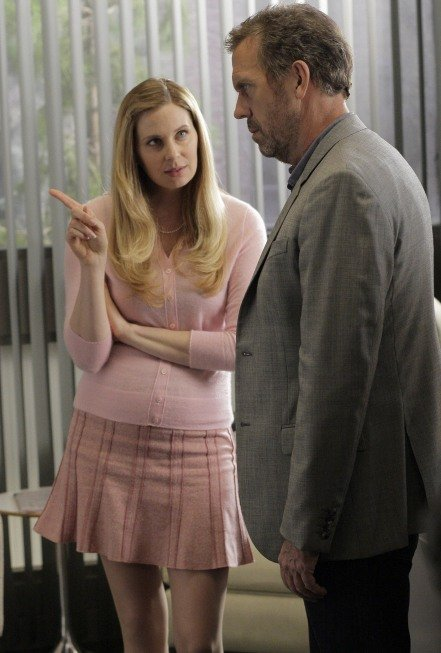 Anne Dudek and Hugh Laurie on House. Photo courtesy of Fox