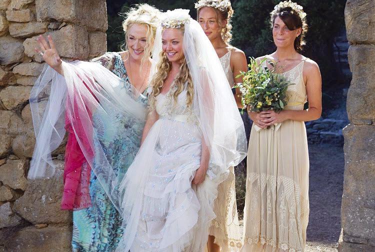 mamma mia always a bridesmaid the best onscreen wedding