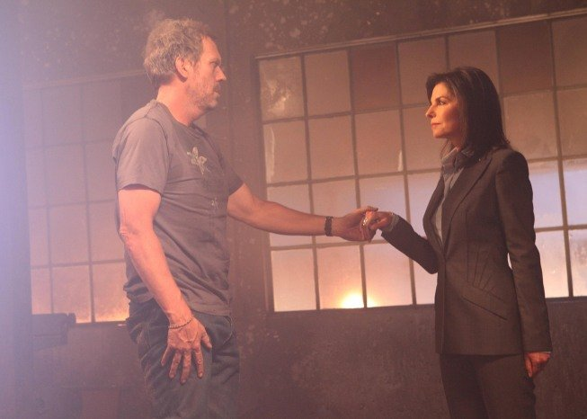 Sela Ward and Hugh Laurie on House. Photo courtesy of Fox