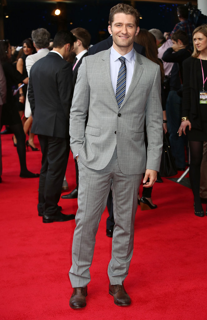 Matthew Morrison arrived in London at the What to Expect When You're Expecting UK premiere.