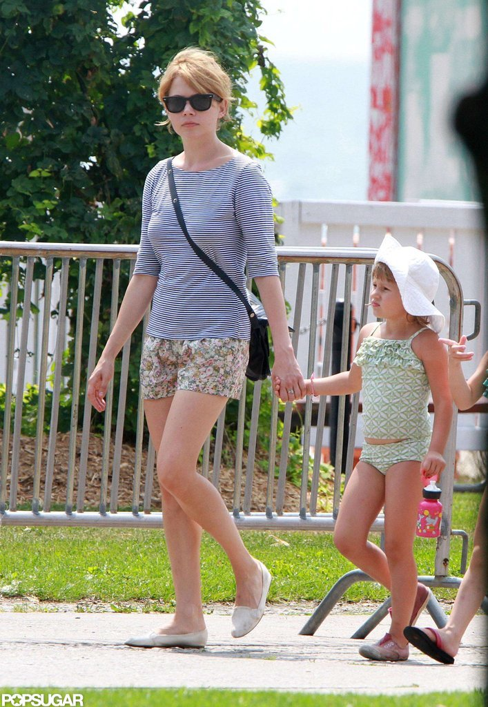 Michelle Williams took daughter Matilda for a swim during a trip to Toronto Island in August 2010.