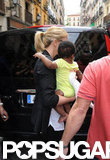 Charlize Theron and Baby Jackson Say Hola to Spain