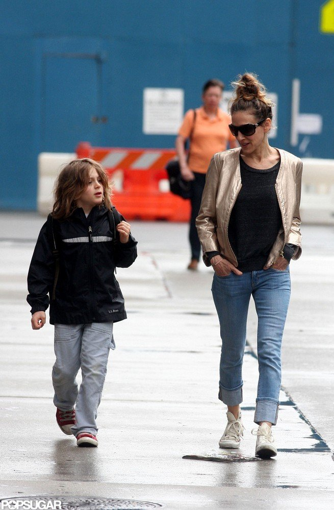 Sarah Jessica Parker and James Wilkie Broderick took an early morning walk to school.