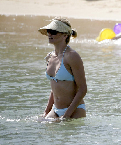 Cameron Diaz wore a bikini for a dip in the water during a Hawaiian getaway in June 2005.