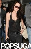 Kristen Stewart wore all black in Cannes.