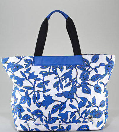 A blue-and-white color palette looks crisp and clean on this large tote. Diane von Furstenberg Leaf Meadow Beach Tote ($98)