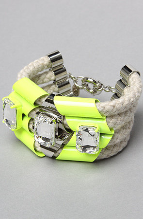 """Neon is a huge trend for summer, but it can be difficult to wear head to toe. This bracelet gives enough of a nod to neon without overdoing it. It'll look great with my Michael Kors watch!"" — Ashley Madekwe Ashley's pick: nOir The Highlight Quad Rope Bracelet ($98)"