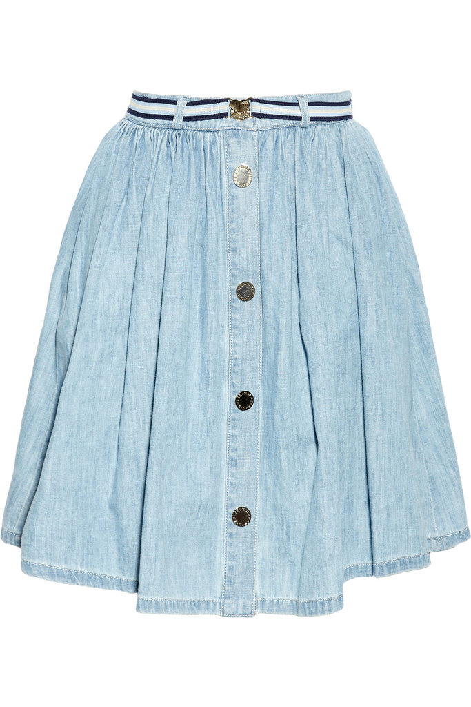 """Denim never goes out of style! The light wash of this skirt makes it perfect for summer. I'll team this with breton stripes and feel very Parisian!"" — Ashley Madekwe Ashley's pick: Mulberry Pleated Denim Miniskirt ($435)"