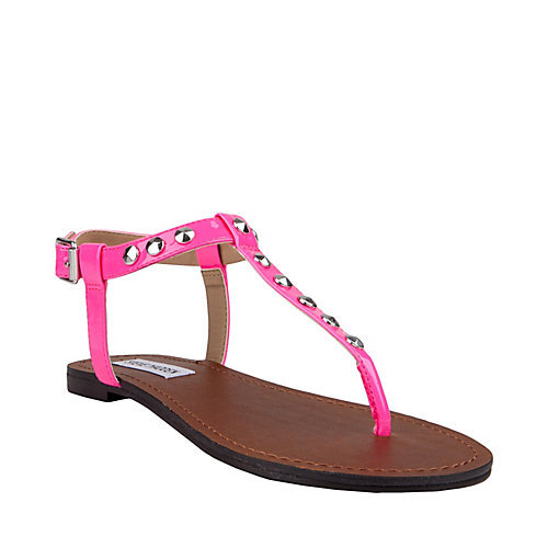 """Neon and studded? Yes, please!"" — Ashley Madekwe Ashley's pick: Steve Madden Virrtue Sandals in Neon Pink ($50, originally $60)"