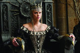 There are many intimidating things about Ravenna, the evil queen, including her stately engraved throne. Photo courtesy of Universal Pictures