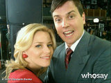 Elizabeth Banks posed with 30 Rock costar Michael Mosley on the set.  Source: Elizabeth Banks on WhoSay